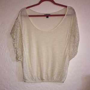 Cream off the shoulder blouse